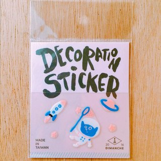 Dimeng Qi small decorative stickers [elf - Space]