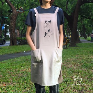 [Cat] grimace wave aprons