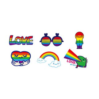 Waterproof sticker - courage rainbow