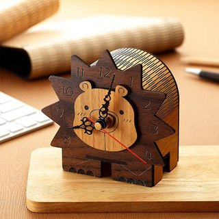 Wood Sculpture Clock - Lion