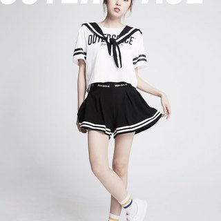 OUTER SPACE beautiful girl Sailor suit (white)