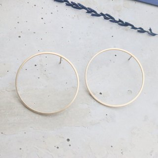 Round brass earrings 1094 I love round