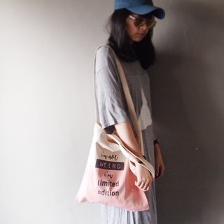 Limited edition Flamingo Powder Gradient - Canvas Hand Dye Tote Bag Double Back