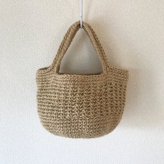 Round bottom tote bag,shoulder bag,mini,jute