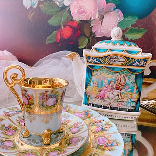 Anne Crazy Antiquities British Sadler Story Flower Teapot Shakespeare Midsummer Night Dream Inventory