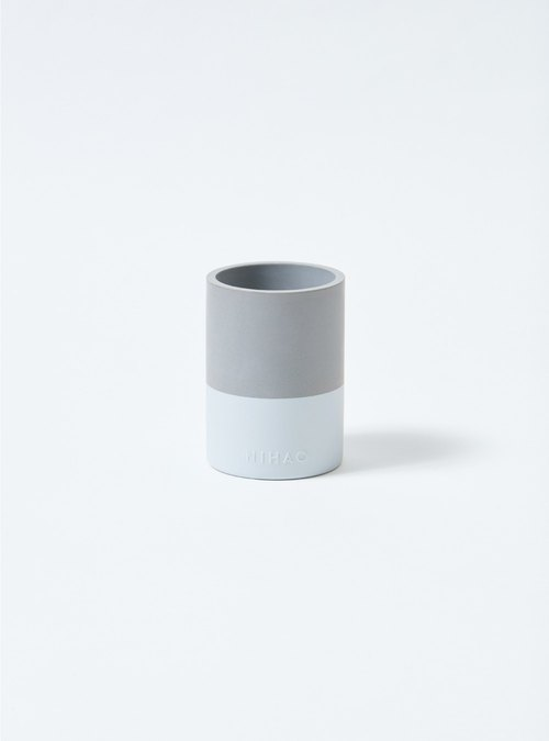NIHAO | Cement Pot Narrow Species (Quiet White)