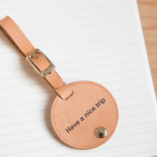 Handmade leather - double luggage tag / customized lettering