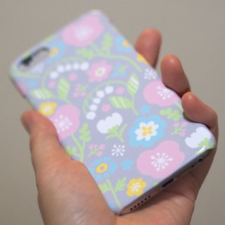 Plastic android phone case - Spring Pastel Flowers -