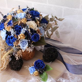 [Dark blue] blessing - eternal flower / dried flower / bouquet jewelry / wedding bouquets Bouquet / Flower Ceremony