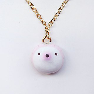 Fairy tale pink pink hedgehog handmade cute necklace