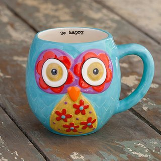 Owl Mug - Blue 12oz ∣ MUG152