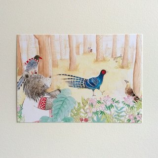 Meet the Endemic Species of Taiwan-Mikado Pheasant Postcard