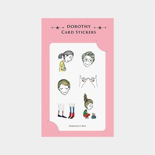 Dorothy ticket waterproof stickers - cake girl (9AAAU0017)
