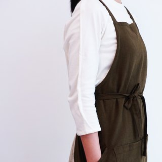 Apron No.1 - dark green working apron with multi-pocket