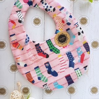 Colorful Socks - Powder - Octatte 100% Cotton Double Sided Egg Bib