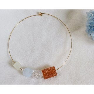 Shiny candy string original necklace / neck ring choker