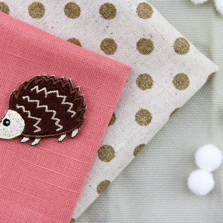 Big nose hedgehog self-adhesive embroidered cloth stickers - Forest cute animal series