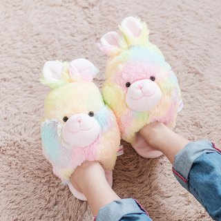CANDY BEAR Cotton Candy Rabbit Slippers