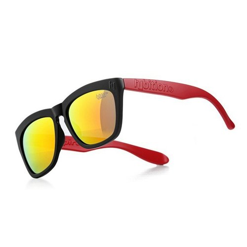 South Korea Hybition sunglasses Sugary TR Matt Black / Red Red Revo Lens black and red frame / red mirror