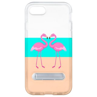 Flamingo flamingo hidden magnet bracket iPhone 8 7 6 plus mobile phone case