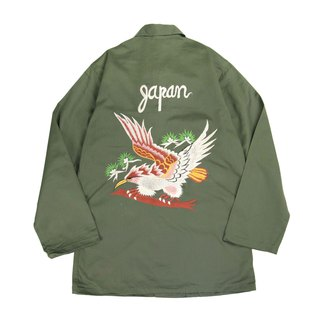 Tsubasa.Y vintage old-fashioned military shirts with hawk wings 009 , embroidery military shirt