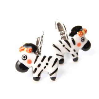 【Paris, France TARATATA】 zebra earrings animal series