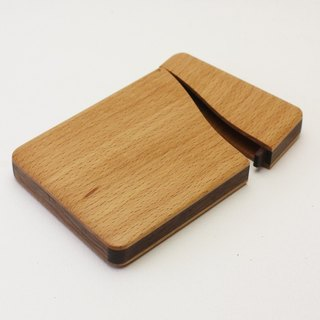 name-card holder Beech and Walnut
