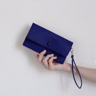Simple mobile phone carry bag Phone package / wrist strap - blue low-key Zhang Qing (6 吋 mobile phone