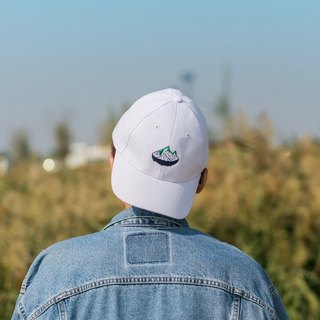 The island green baseball cap embroidered white mountain island