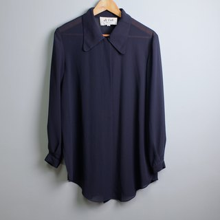 FOAK Vintage Minimalist Blue One-button Buckle Jacket