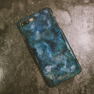 Hello Universe! Series ll Rainy Night ll Hand-painted oil painting phone case