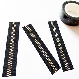 Masking Tape Denin Zipper