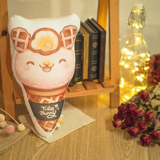 QQ double-sided pillow - cone rabbit - strawberry