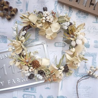 To be continued | autumn breeze had dried hydrangea flower ring face shooting props wall decoration gift gifts wedding was arranged small office