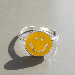 Classic Big Smile 925 Sterling Silver Ring (Yellow)