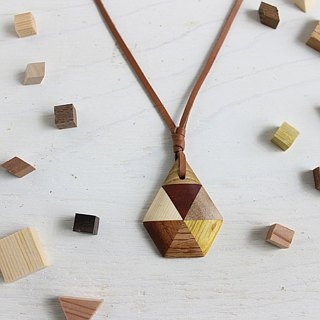 Parquet drop eye pendant