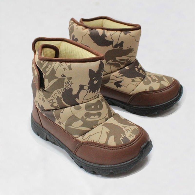 零碼特價 防水故事靴 – 咖啡色三隻小豬與大野狼 童鞋/童靴