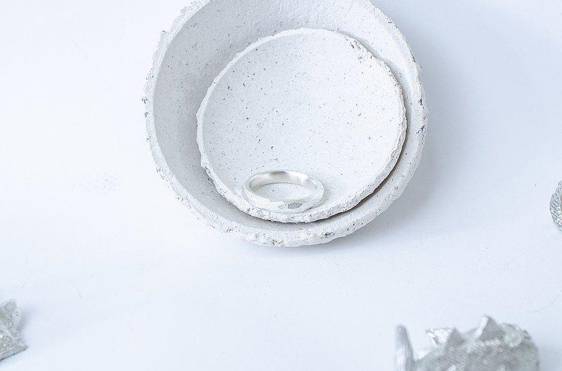原礦切面純銀戒指