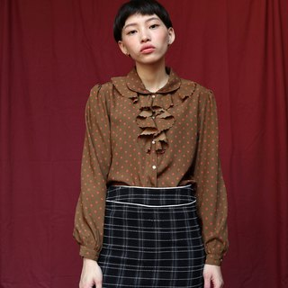 Pumpkin Vintage. Ancient water jade dot shirt