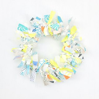【Fabric wreath (Christmas only)】Yellow mix