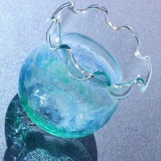 Mini Ocean│Relaxing Sea Blue Decorative Accessory・3D Sculpture