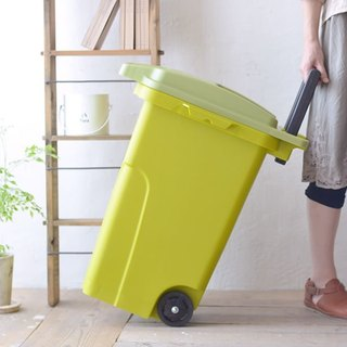 Japan eco container style functional outdoor trolley trash 45L - total three colors
