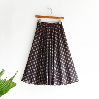 River Hill - Cappuccino little tea youth hand-woven silk antique round skirt Japanese college students vintage dress vintage