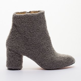 [Saint Landry] sweet lamb's wool boots - soft gray