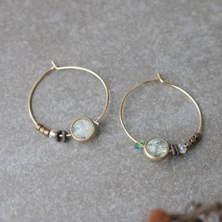 Moonstone Earrings 1113- Sky Garden