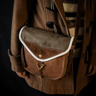 HEYOU  - The Wayfarer's Bag - Type-2 - 旅人馬鞍包復古咖款
