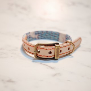 Dog collars, S size, blue sika deer)_DCJ090405