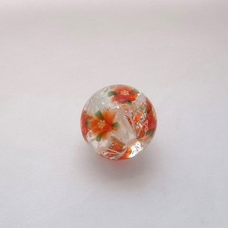 Lampwork Beads Poinsettia Glass Handmade