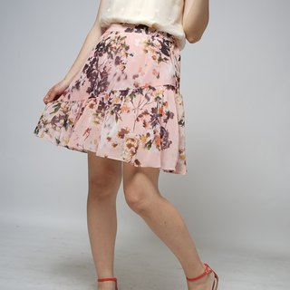 Summer game series romantic orange powder flower shorts skirt