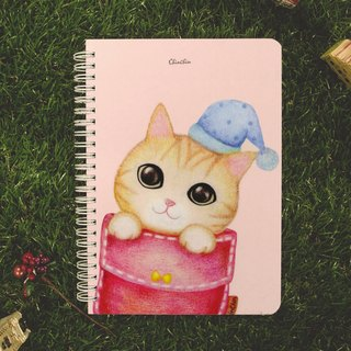 ChinChin painted cat notebook - pocket mischief cat (gifts postcard)
